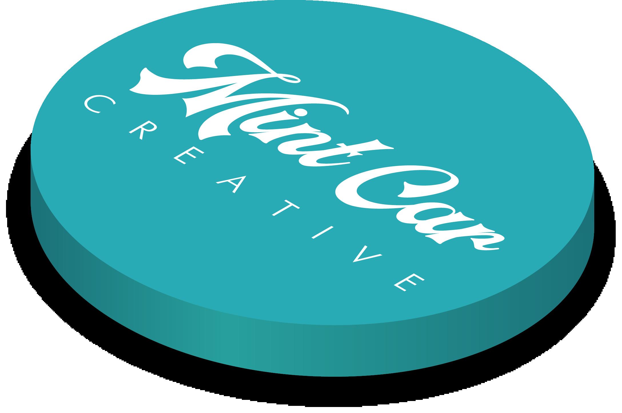 Mint Car Creative logo 3D